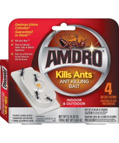 Amdro Fast Acting Low Profile Ant Killing Bait, 1.28 oz Pack, Light-Yellow to Light Amber, Liquid/Gel