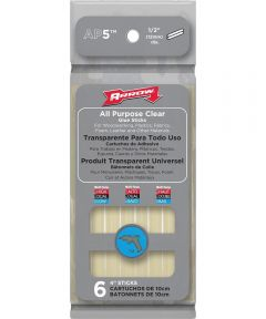 6 Pack All-Purpose Glue Stick, 1/2 in. (Dia) x 4 in. (L), Clear