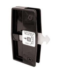 A 165 Sliding Screen Door Handle & Latch, Black Plastic, Nite Lock, Steel Latch