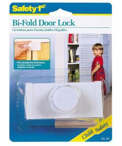 White Bi-Fold Door Lock