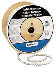 1/2 in. White Nylon Twisted Rope (Sold Per Foot)