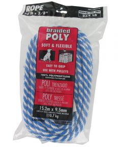 3/8 in. x 50 ft. Blue & White Polypropylene Solid Braid