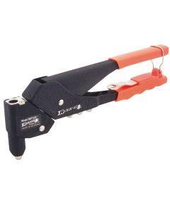 Twister Rivet Tool, 3/32, 1/8, 5/32, 3/16 in., Spring Loaded, Vinyl Handle, Steel, Red