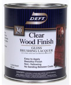 1 Quart Gloss Clear Wood Finish Brushing Lacquer