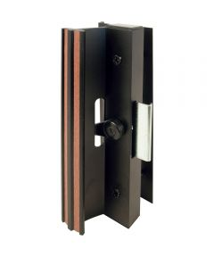 C 1006 Patio Door Surface with Clamp Latch, Black, Extruded Aluminum