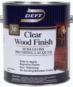 1 Gallon Semi Gloss Clear Wood Finish Brushing Lacquer