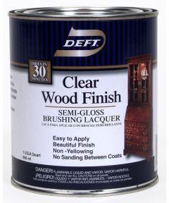 1 Quart Semi Gloss Clear Wood Finish Brushing Lacquer