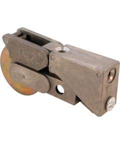 D 1533 Single 1-1/2 in. Steel Roller Assembly, Ball Bearing, Diecast Plain Back, 1 Pack