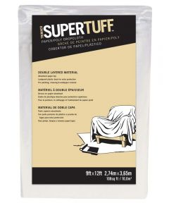 9 ft. x 12 ft. Supertuff Paper & Poly  Drop Cloth
