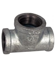 1 in. x 1 in. x 3/4 in. Galvanized Reducing Tee
