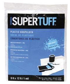 9 ft. x 12 ft. 1Mm Supertuff Mediumweight Plastic Drop Cloth