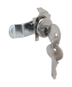 Mail Box Lock, Counter Clockwise Rotation, 5 Pin, Nickel Plated, Pack of 1