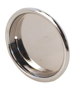2 inch inset sliding closet door pull handle, Chrome plated, 2 per pkg.