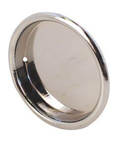 2-1/8 inch inset sliding closet door pull handle, Chrome plated, 2 per pkg.