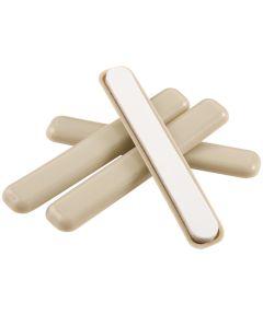 1/2 in. x 4 in. Beige Self-Stick Furniture Sliders, 4 Count