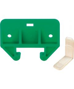 R 7085 Drawer Track Guide Kit, 1-1/8 in. Plastic, Green Guide w/White Saddles (Pack of 2)