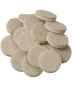 1 Inch Oatmeal Round Self-Stick Felt Pads 16 Count