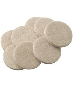 1-1/2 Inch Oatmeal Self-Stick Round Felt Pads 8 Count