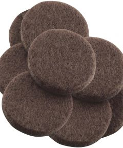 1-1/2 in. Brown Round Self-Stick Felt Pads 8 Count