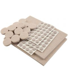 Beige Softtouch Felt Pads Assorted Sizes 102 Count