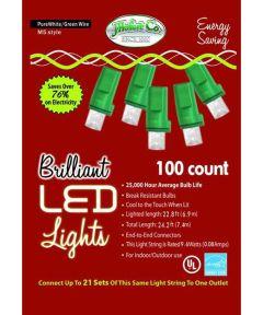 100 Clear M5 LED Christmas Lights String Set