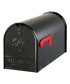 Large Galvanized Steel  Black Rural Size Mailbox