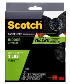 3/4 in. x 15 ft. Black Indoor Fasteners