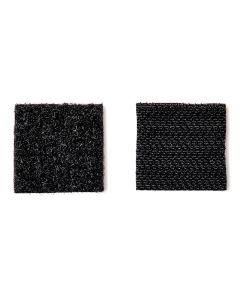 7/8 in. x 7/8 in. Black Scotch Indoor Velcro Fasteners 12 Count