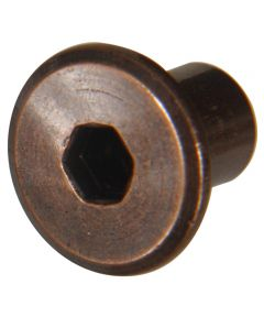 Antique Bronze Joint Connector Nut (1/4-20 Thread)