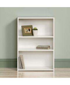 3-Shelf Bookcase, White Finish