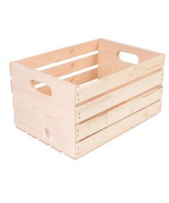 Pine Wood Storage Crate