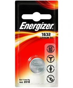 Energizer 1632 3V Watch/Electronic Battery, 1 Pack
