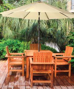 Market Crank Umbrella, 55.1 in. (L) x 5-1/21 in. (W) x 5-1/21 in. (H), Taupe