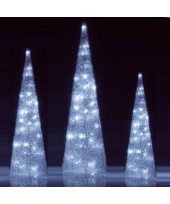 3D White Christmas Framed Christal Cones