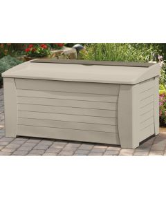 Deck Box With Seat 54-1/2 in. (W) x 28 in. (D) x 27 in. (H), 127 gal, Light Taupe