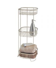 Forma Free Standing 3-Tier Square Shower Storage Shelf