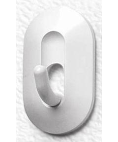 Spectrum Diversified White Adhesive Classic Hooks, 2 Pack