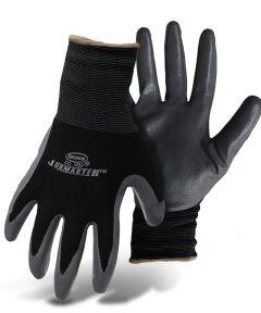 Large Black & Gray Nylon With Nitrile Coated Palm Gloves