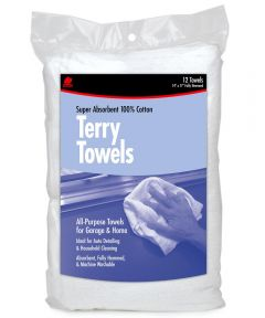 14 in. x 17 in. Cotton Terry Towels 12 Count