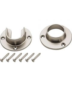 Flange Set Satin Nickel Finish