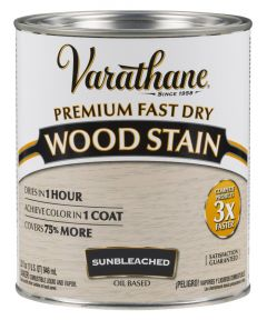 Varathane Fast Dry Wood Stain, Quart, Sunbleached