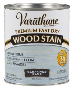 Varathane Fast Dry Wood Stain, Quart, Bleached Blue