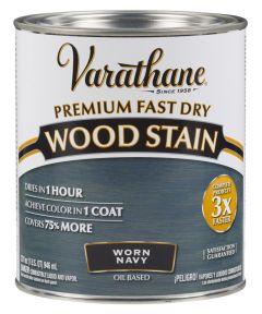 Varathane Fast Dry Wood Stain, Quart, Worn Navy