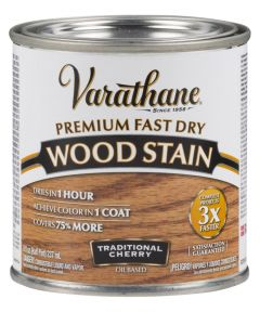 Varathane Fast Dry Wood Stain, Half Pint, Traditional Cherry