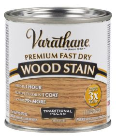 Varathane Fast Dry Wood Stain, Half Pint, Traditional Pecan
