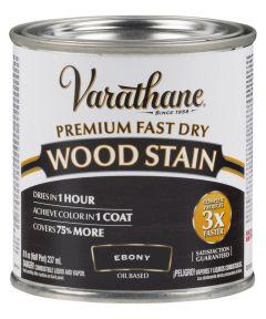 Varathane Premium Fast Dry Wood Stain, Half Pint, Ebony