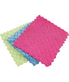 Microfiber Sponge Cloth Assorted Colors 3 Count