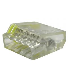10 Yellow 4-Port Pushgard Push-In Wire Connector 10 Count
