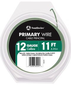12/19 AWG 11 ft. Green Stranded Primary Auto Wire