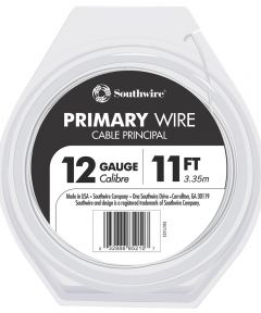 12/19 AWG 11 ft. White Stranded Primary Auto Wire
